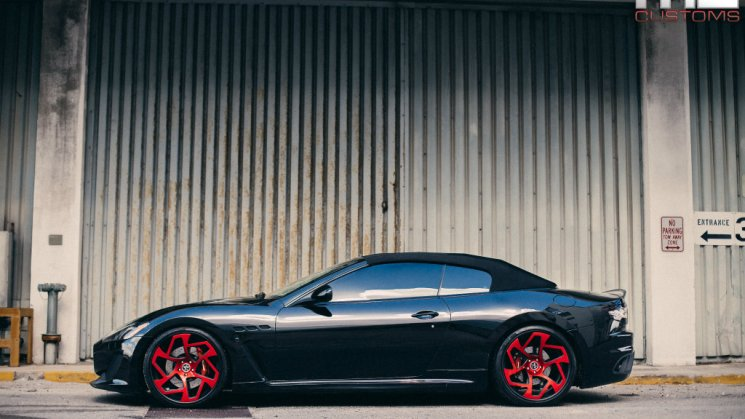 Maserati GranTurismo Convertible On Vellano Wheels By MC Customs