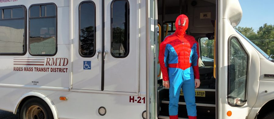 Spiderman looks for alternative transportation