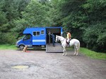 Horse box parking in Ruby Country
