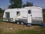 Priestacott Farm caravan