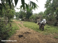 Getting lost in a village and chased by a puppy