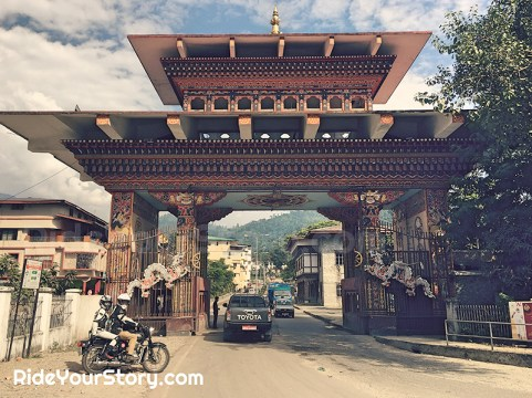 At the Indo-Bhutan Border Gate.