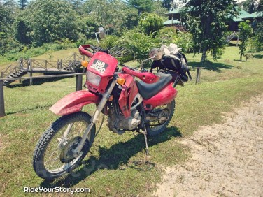 My first adventure ride, a Demak 150, even before I had my first bike or legally riding back home when my license was issued. The rest is history...