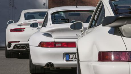 White giants: Three of a best sports cars