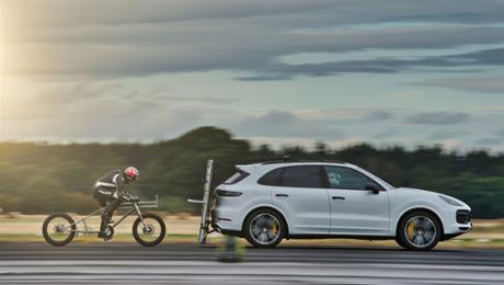 Porsche helps European bicycle land speed record