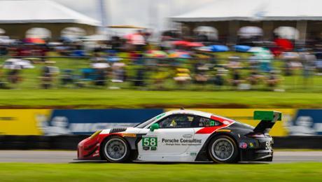 IMSA: Podium for Porsche 911 GT3 R in Virginia