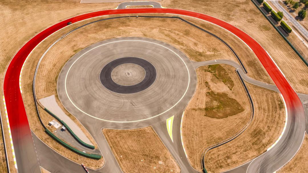 Curve di Lesmo, circuit in Leipzig, 2018, Porsche AG