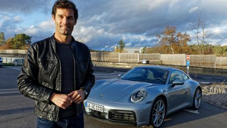 Mark Webber drives a new Porsche 911