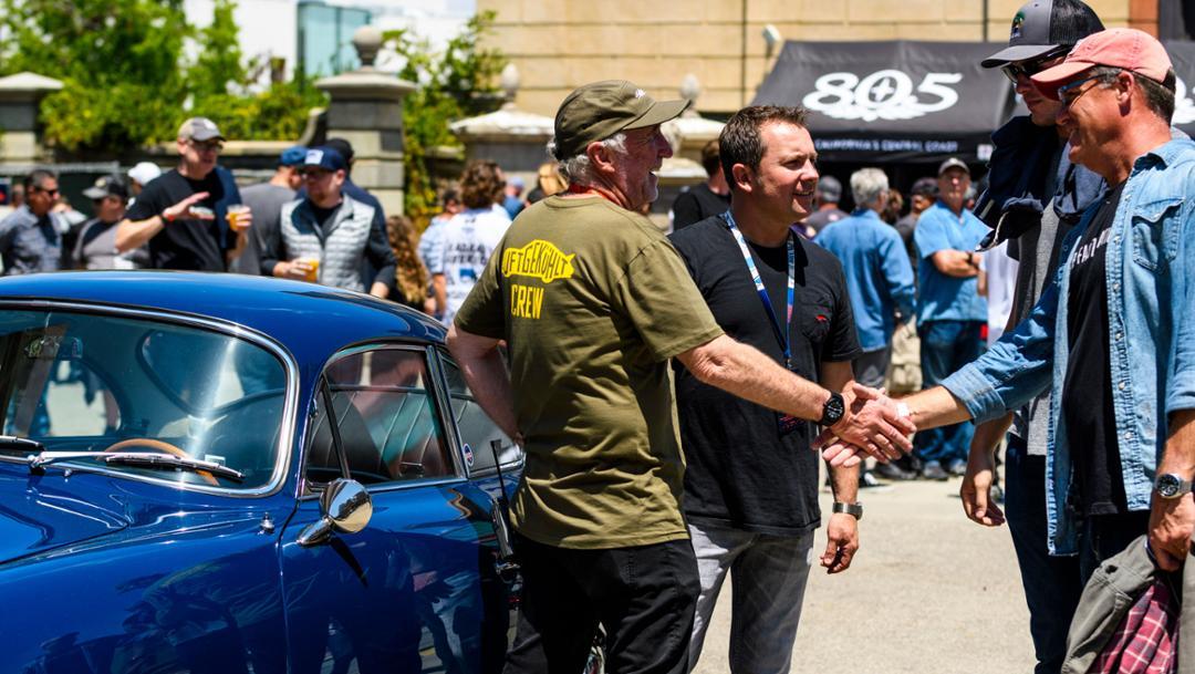 Jeff Zwart, Rod Emory, l-r, Luftgekühlt 6, Universal Studios backlot, Los Angeles, 2019, Porsche AG
