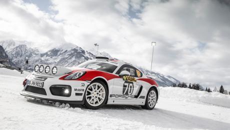 Demo run for a Porsche Cayman GT4 Rallye