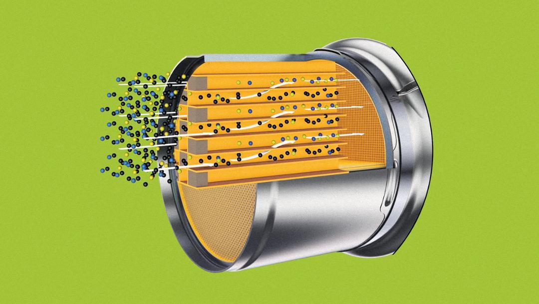 Gas particulate filter, 2018, Porsche AG