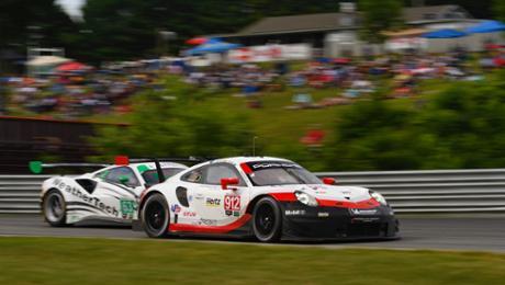 Podium for Porsche during Lime Rock Park in Lakeville