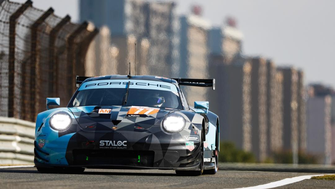 911 RSR, Dempsey Proton Racing (77), qualifying, spin five, FIA WEC, Shanghai, 2018, Porsche AG