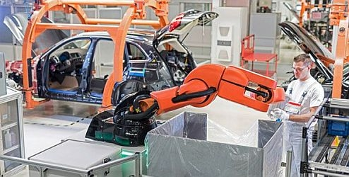 Human-robot team-work during Audi: At a plant in Ingolstadt, a PART4you drudge works hand-in-hand with people – though any reserve barriers and ideally blending to a employees' operative cycles. This innovative record creates prolongation work easier and improves ergonomics.