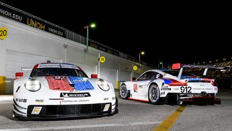 Porsche flies Brumos colours during Daytona and Sebring