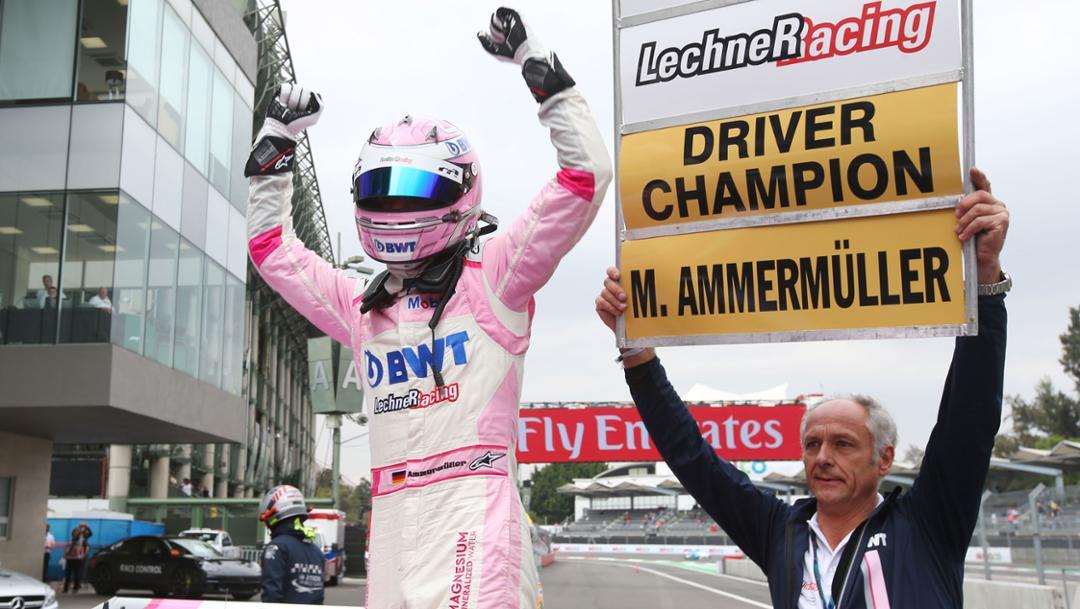 Michael Ammermüller, Erwin Kickmaier, Porsche Mobil 1 Supercup, turn 10, Mexico, 2018, Porsche AG