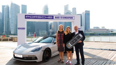 "Simona Halep wins a ""Porsche Race to Singapore"""