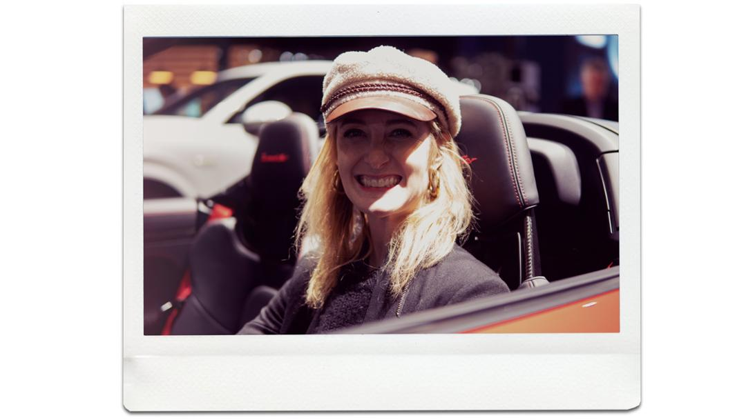 Hannah Elliott, journalist, 911 Speedster, universe premiere, New York International Auto Show, 2019, Porsche AG