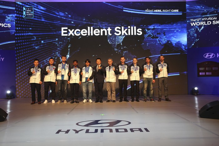 Four Americans Win Medals during Hyundai World Skill Olympics