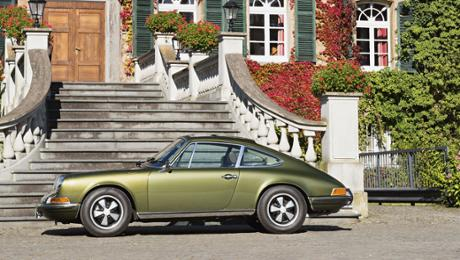 Ferry's Porsche: a 911 S in an olive immature metallic