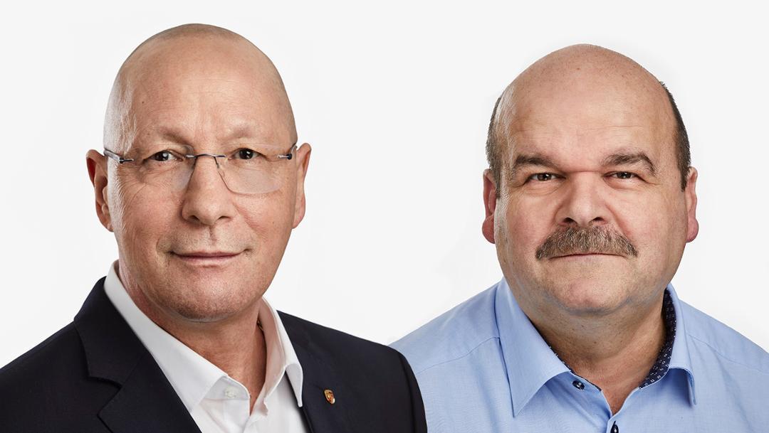 Uwe Hück, Werner Weresch, l-r, 2019, Porsche AG