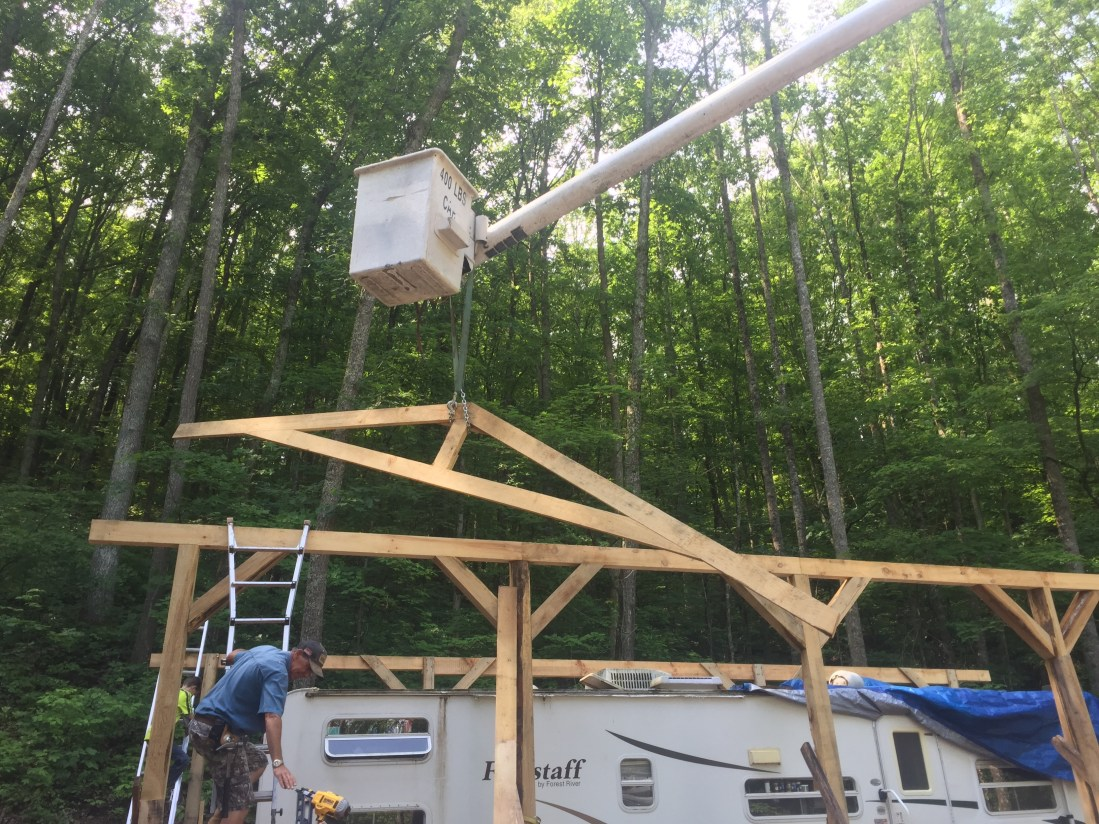 Ridge Haven building update. Trusses