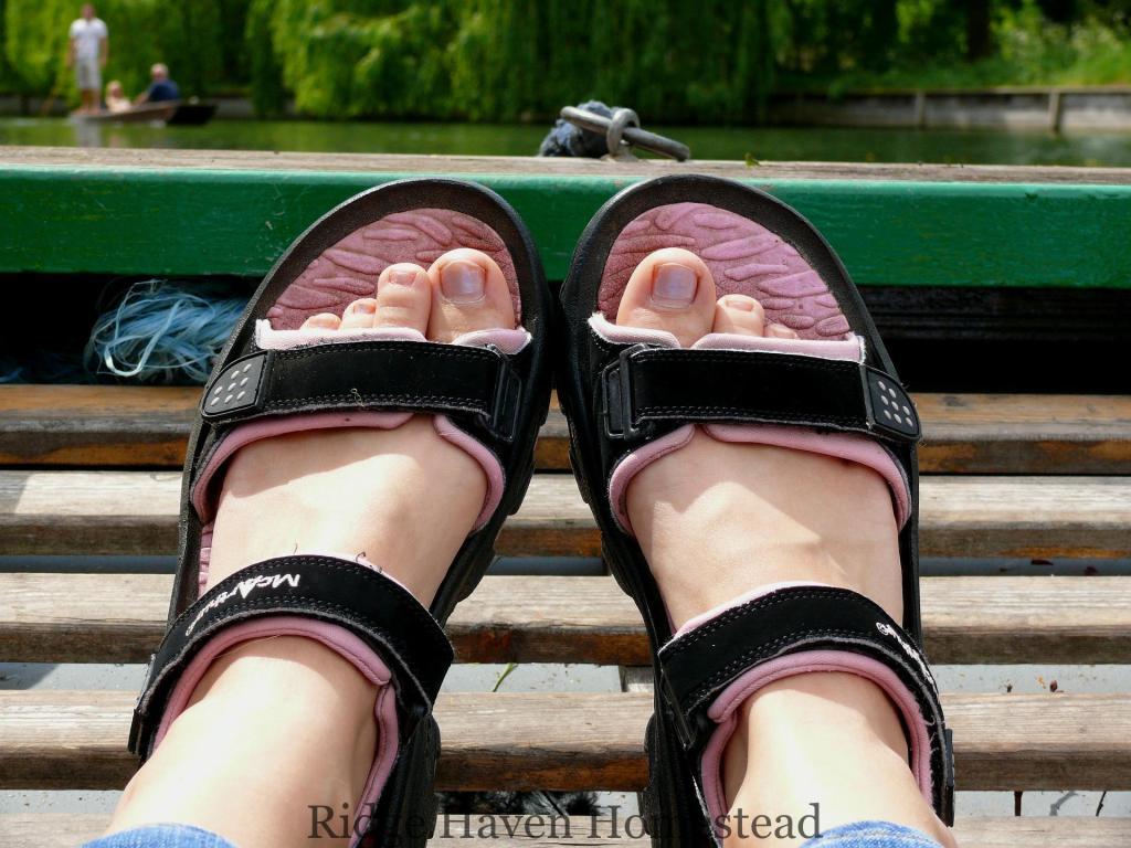 angels wear sandals