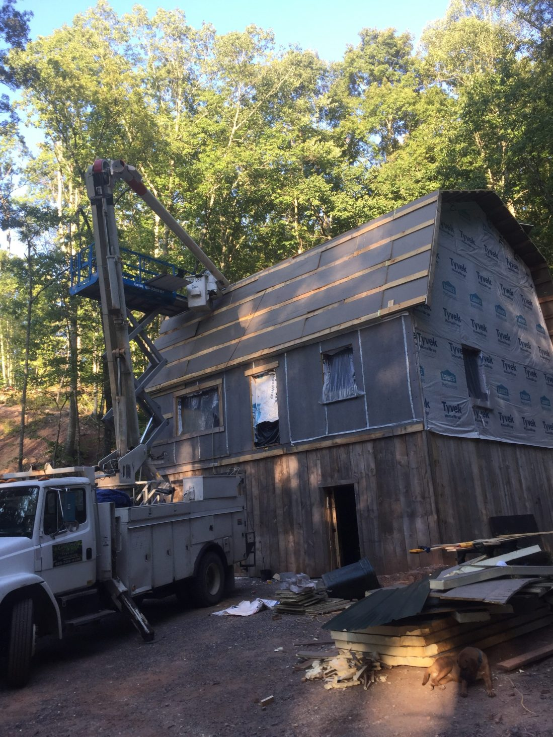 Rigid foam insulation on super insulated cabin roof