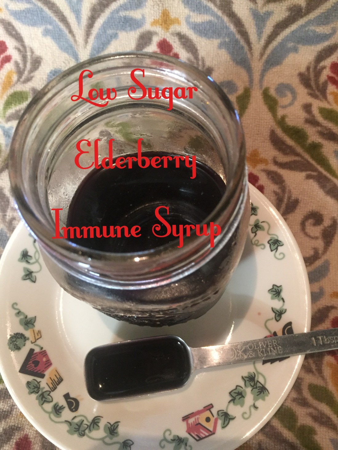 Low Sugar elderberry Immune syrup