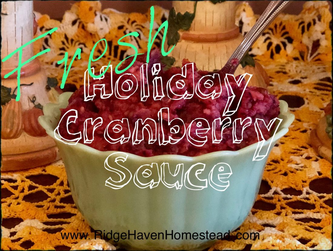 Fresh Holiday Cranberry Sauce