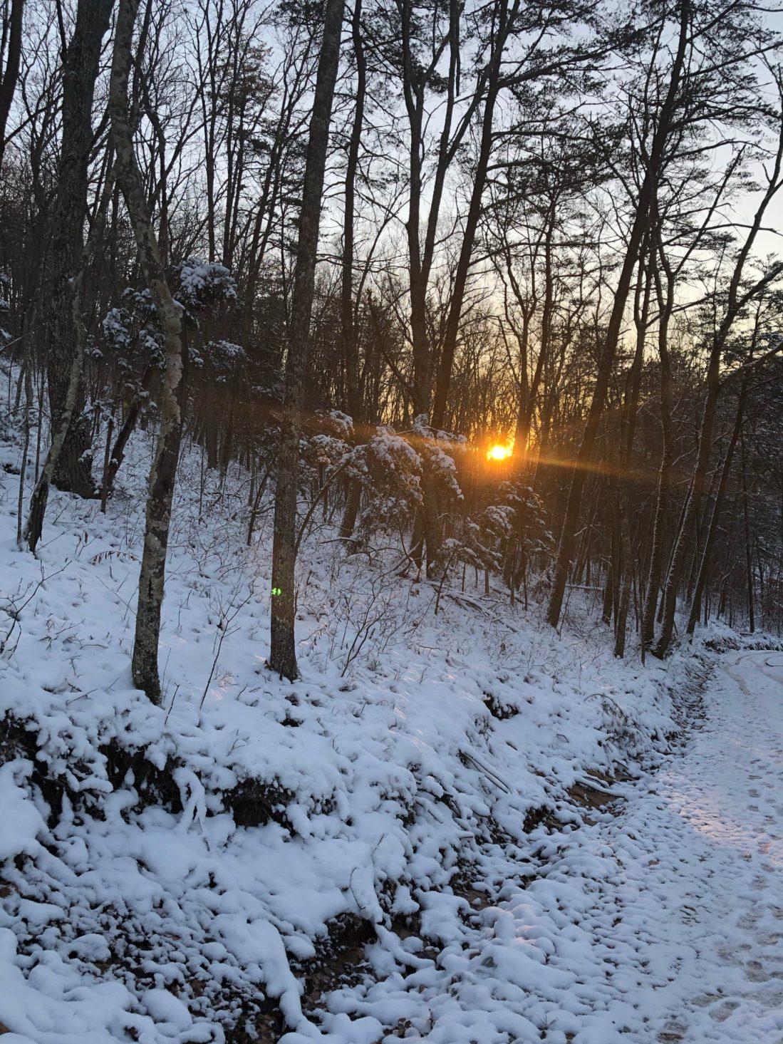 Sunset at Ridge Haven Homestead