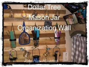 Dollar Tree Mason Jar wall