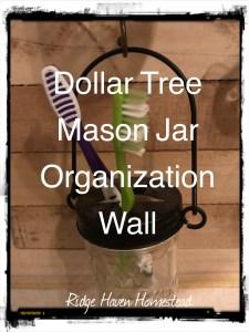 Dollar tree mason jar organization