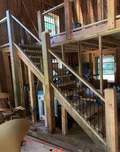 Rebar stair railing