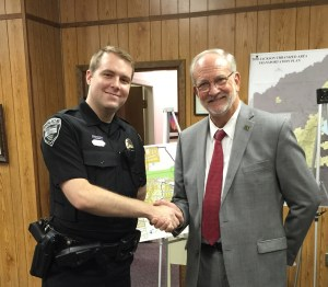 Ridgeland Police Officer Jason Haven was selected as Officer of the Month for April, 2015. Officer Haven was recognized at the May 19, 2015 Mayor and Board of Aldermen Meeting by Mayor Gene McGee. His actions are commendable and indicative of a professional and motivated officer.