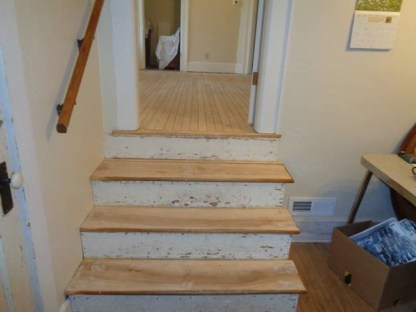 May 3 – steps to dining room sanded