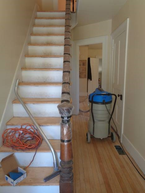 May 5 – stair treads have been sanded
