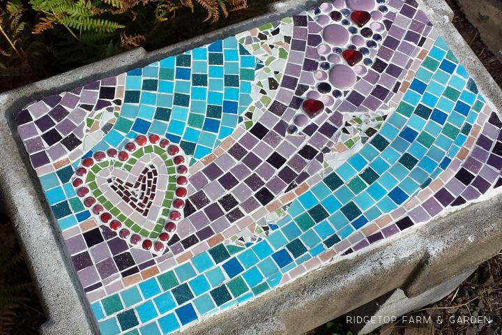 Ridgetop Farm & Garden | Bench Seat Mosaic