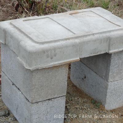 DIY Cement Bench