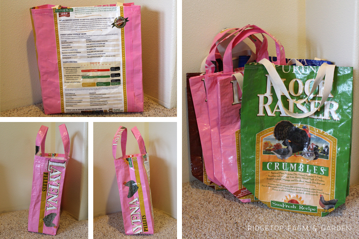 Ridgetop Farm and Garden | DIY| Upcycle | Tote Bag to Feed Sacks