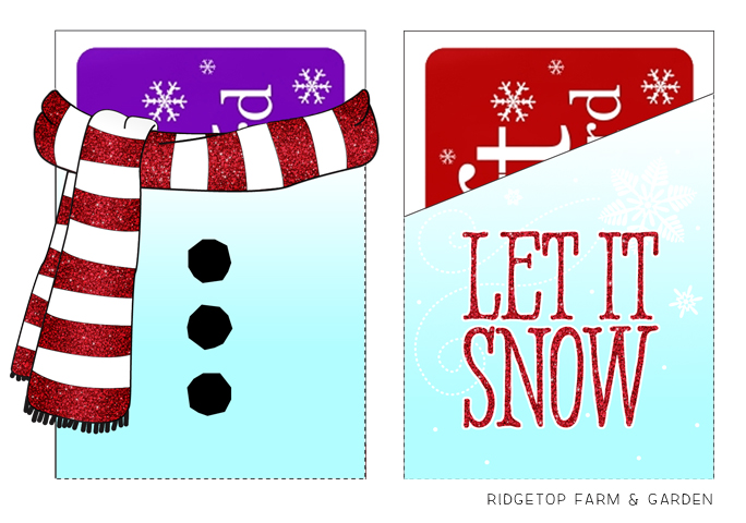 Ridgetop Farm and Garden | 12 days of December | Gift Card Holders | Let it Snow