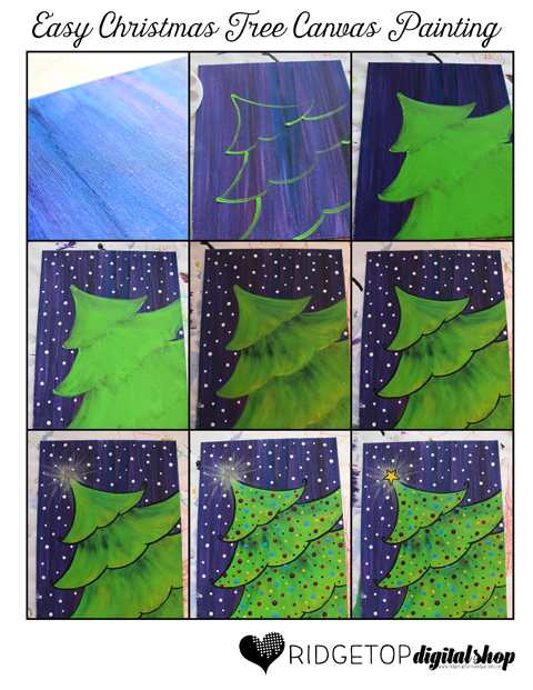 Easy Christmas Painting On Canvas Arte Inspire