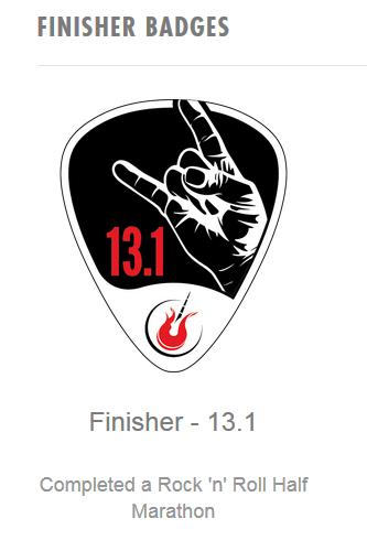 2015 Race Recap | Rock n Roll Las Vegas Half Marathon | Finisher Badge