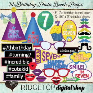 Ridgetop Digital Shop | Photo Booth Props | 7thBirthday