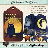 Ridgetop Digital Shop | Tags | Halloween | Owl | Moon