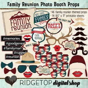 Ridgetop Digital Shop | Photo Booth Props | Family Reunion | Lodge |Camping | Mountain | Lumberjack