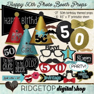 Ridgetop Digital Shop | Photo Booth Props | 50th Birthday