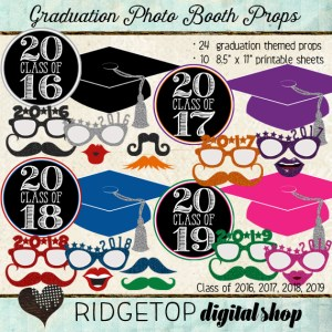 Ridgetop Digital Shop | Photo Booth Props | Class of 2016 | 2017 | 2018 | 2019 | Graduation