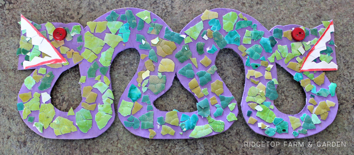 Ridgetop Farm and Garden | Home School | Mexico | Double Headed Serpent Mosaic | Egg Shell | Kid Craft
