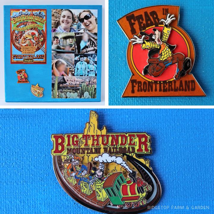 Ridgetop Farm and Garden | Disney | Pin and Photo Display Canvas | Big Thunder Mountain Railroad
